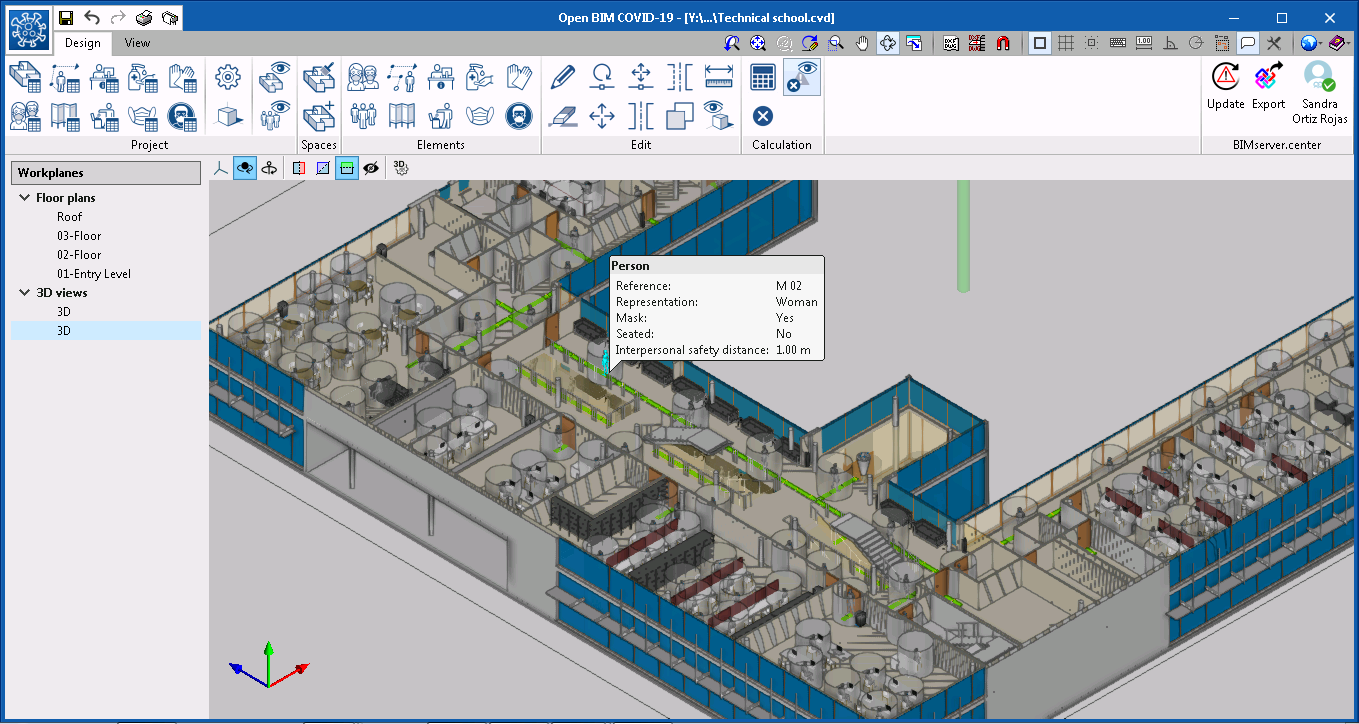 Open BIM COVID-19. User interface